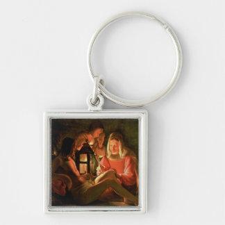 St. Sebastian tended by the Holy Woman (oil on can Keychain