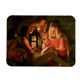 St. Sebastian tended by the Holy Woman (oil on can Rectangular Photo Magnet