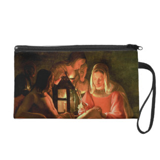 St. Sebastian tended by the Holy Woman (oil on can Wristlet Purse