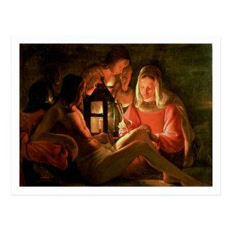 St. Sebastian tendido por la mujer santa (el Postal