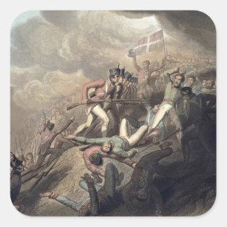 St. Sebastians, el 31 de agosto de 1813, 'del Pegatina Cuadrada