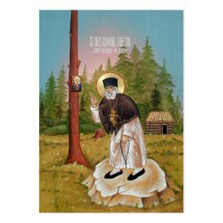 St. Seraphim of Sarov Mini Prayer Card Large Business Cards (Pack Of 100)
