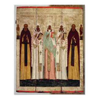 St. Sergius of Radonesh with the Saints of Poster