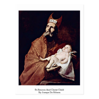 St.Simeon And Christ Child By Jusepe De Ribera Postcard