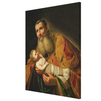 St. Simeon Presenting the Infant Christ Canvas Print
