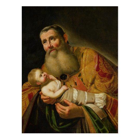 St. Simeon Presenting the Infant Christ Postcard