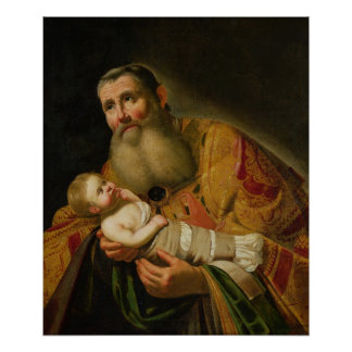 St. Simeon Presenting the Infant Christ Poster