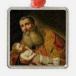 St. Simeon que presenta al Cristo infantil Ornamento Para Arbol De Navidad
