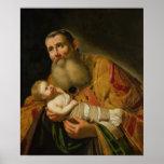 St. Simeon que presenta al Cristo infantil Posters