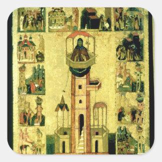 St. Simeon, siglo XVI Pegatina Cuadrada