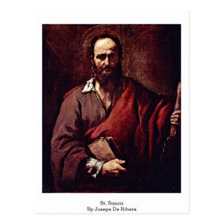 St. Simon By Jusepe De Ribera Postcard