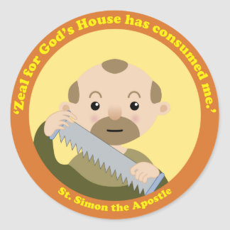 St. Simon the Apostle Classic Round Sticker