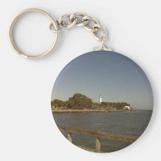 St. Simon's Island Lighthouse Basic Round Button Keychain