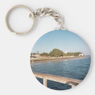 St. Simons Island Lighthouse Basic Round Button Keychain