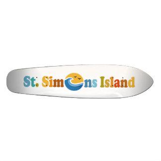 St. Simons Island. Skateboard