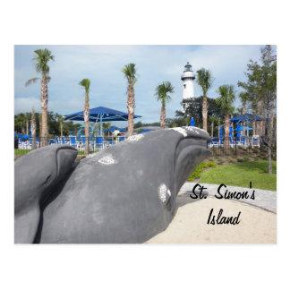 St. Simon's Island Travel Postcard