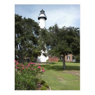 St. Simon's Lighthouse Postcard