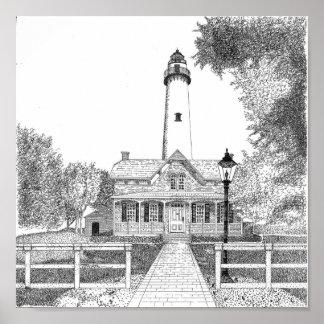 St. Simons Lighthouse Poster