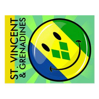 St. sonriente Vincent y bandera de las granadinas Postales