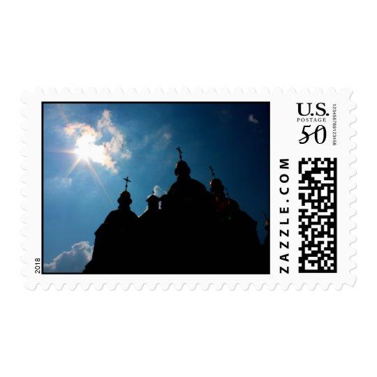 St Sophia Cathedral under sky taken in Kiev, Ukrai Postage