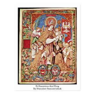 St.Stanislaus And King By Stanislaw Samostrzelnik Postcard