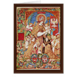 St. Stanislaus Bishop And King Sigismund Tomicki Greeting Card