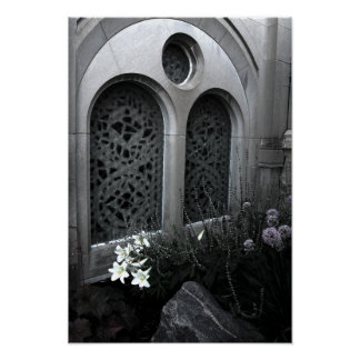 St. Stanislaus Church Floral Poster