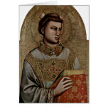 St. Stephen By Giotto Di Bondone Cards