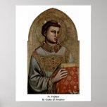 St. Stephen By Giotto Di Bondone Print