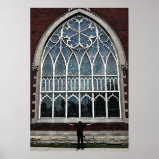 St. Stephen Church Window Poster