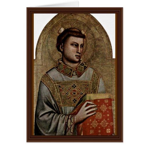 St Stephen de Giotto Di Bondone Tarjeta De Felicitación