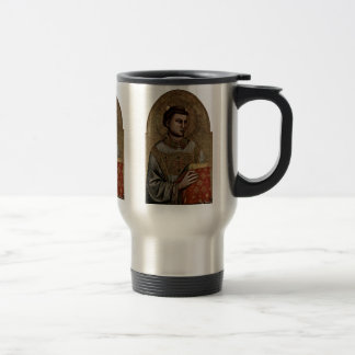 St Stephen de Giotto Di Bondone Taza De Viaje De Acero Inoxidable
