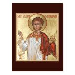 St Stephen la tarjeta del rezo del protomártir Postal