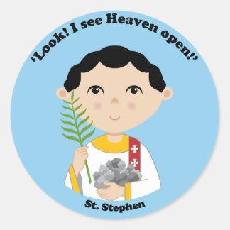 St. Stephen Round Stickers