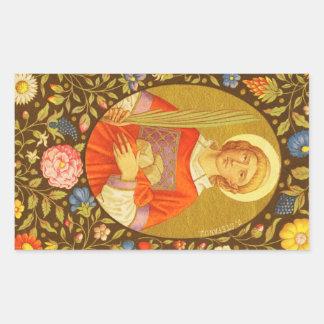 St. Stephen the ProtoMartyr (PM 08) Rectangular Sticker