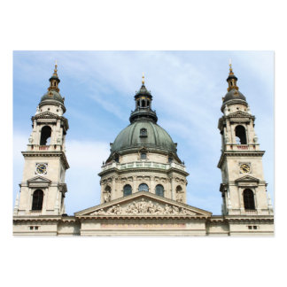 St Stephens Basilica and Clock Tower in Budapest Business Card Templates