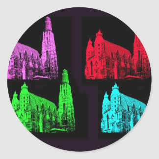 St. Stephen's Cathedral Collage Classic Round Sticker