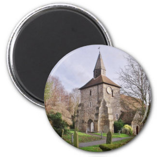 St Stephens Church In January 2 Inch Round Magnet