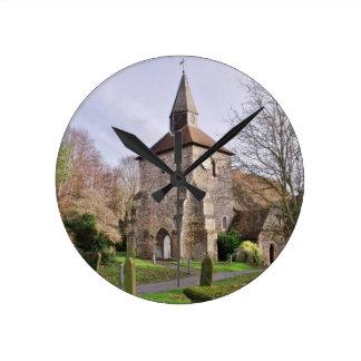 St Stephens Church In January Round Clock