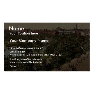 St. Stephen's Green Park. Dublin. Co. Dublin, Irel Business Card Template