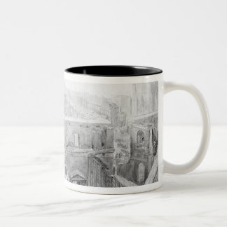 St. Stephen's, House of Lords after the fire Two-Tone Coffee Mug