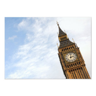 St Stephens Tower (Big Ben) with copy space Card