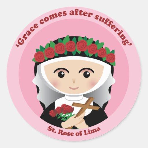 St. Subió de Lima Etiqueta