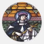 St. Subió de Lima - ruegue para la ventana de cris Pegatina Redonda