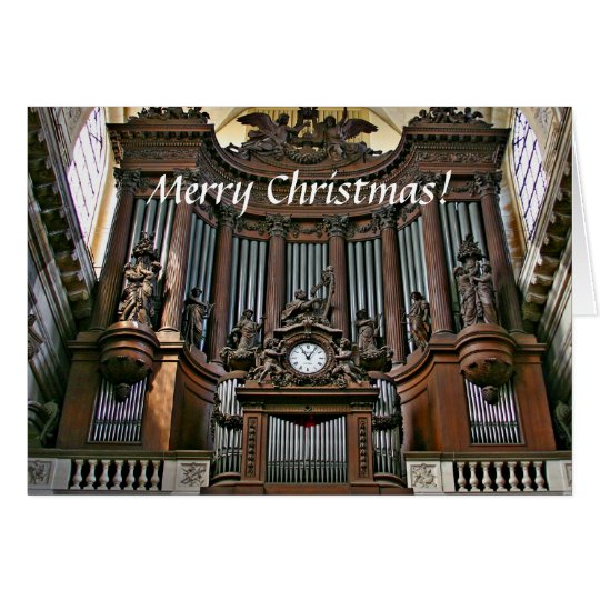 St Sulpice organ Christmas card