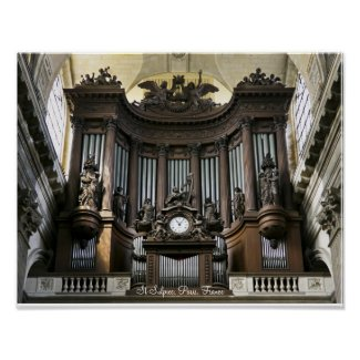 St Sulpice organ poster