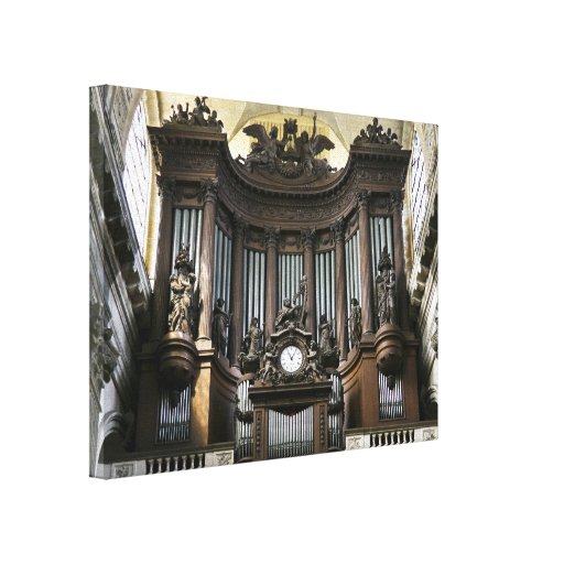 St Sulpice organ Stretched Canvas Prints