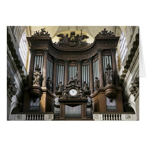 St Sulpice, París Tarjeta De Felicitación