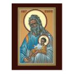St. Symeon la tarjeta del rezo del receptor de dio Postales