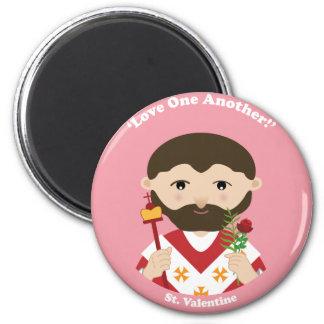 St. Tarjeta del día de San Valentín Imán Redondo 5 Cm